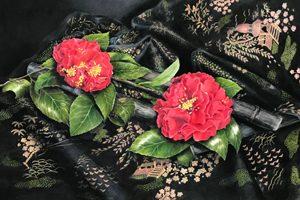 Moore 300x200 CamelliasOnSilk 2019n